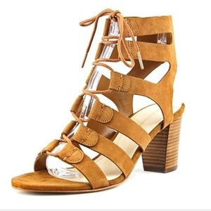 Marc Fisher Dress SUMMER Sandal Tan Suede Leather